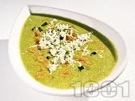 Крем супа от картофи и киселец  с козе сирене